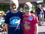 7 kids with faces painted