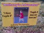 Anthony's Advocates sign