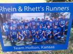 Rhen and Rhett's Runners (football) sign