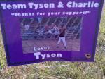 Team Tyson and Charlie (Tyson playing baseball)